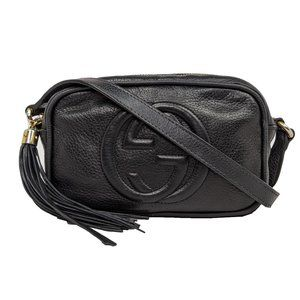 Gucci Disco Black Leather Mini Crossbody Bag